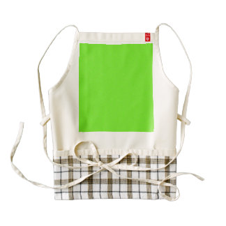 Bright Green Star Dust Zazzle HEART Apron