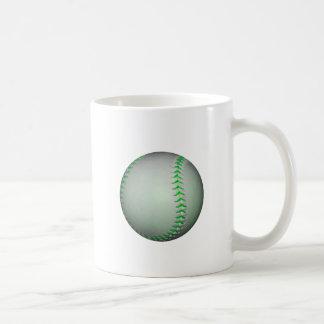Bright Green Stitches Baseball Coffee Mug