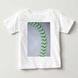 Bright Green Stitches Baseball / Softball Baby T-Shirt
