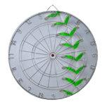 Bright Green Stitches Baseball / Softball Dartboard With Darts