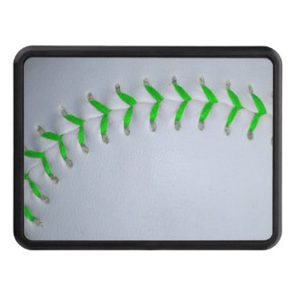 Bright Green Stitches Baseball / Softball Tow Hitch Cover