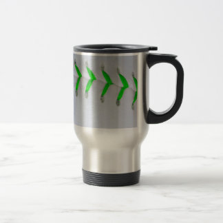 Bright Green Stitches Baseball / Softball Travel Mug
