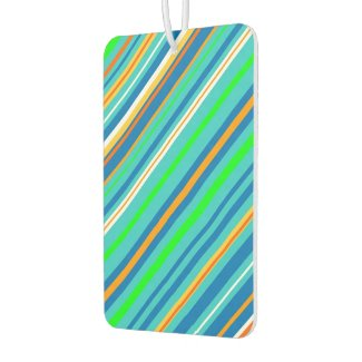Bright Green Stripes Air Freshener
