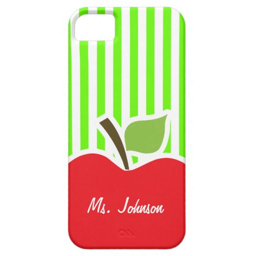 Bright Green Stripes; Apple iPhone 5 Case