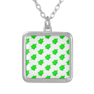 Bright Green Turtles Personalized Necklace
