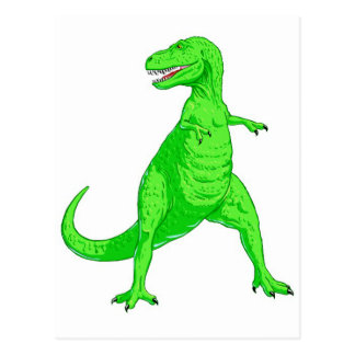 Bright Green Tyrannosaurus Rex Postcard