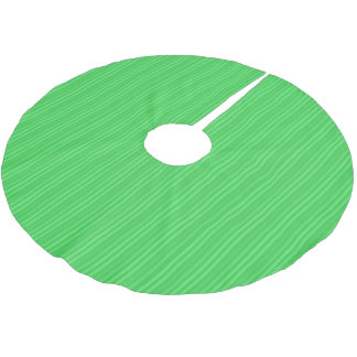Bright Green Vertical Stripes Pattern Brushed Polyester Tree Skirt