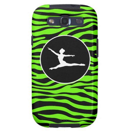 Bright Green Zebra Stripes; Ballet Galaxy SIII Cover