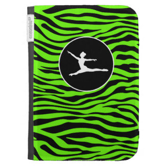 Bright Green Zebra Stripes; Ballet Kindle 3 Case
