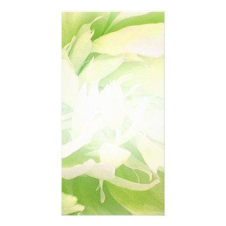 Bright Greenish Floral wedding gift Card