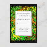 Bright Greens Celtic Animals Design Wedding RSVP