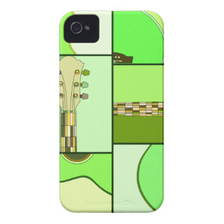 Bright Greens Pop Art Guitar iPhone 4 Case