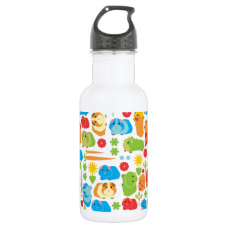 Bright Guinea Pig Patch Water Bottle