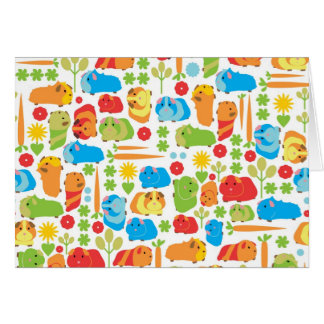 Bright Guinea Pig Vegetable Patch Card
