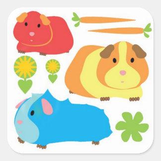 Bright Guinea Pigs Sticker