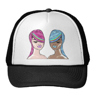 Bright Hair Model Sketch Trucker Hat