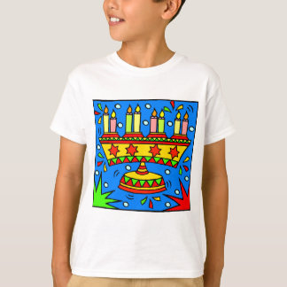 Bright Hanukkah Menorah T-Shirt