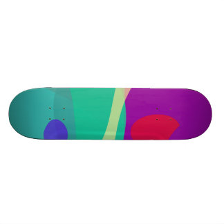 Bright Happy Abstract Purple and Green Skate Deck
