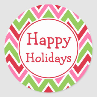 Bright Happy Holidays Stickers