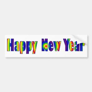 Bright Happy New Year Bumper Sticker