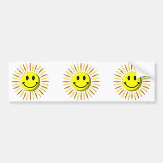 Bright Happy Smile - Smiley Face Bumper Sticker