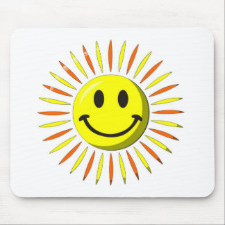 Bright Happy Smile - Smiley Face Mouse Pad