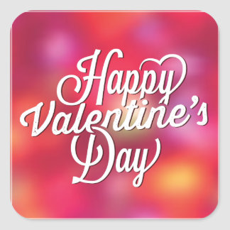 Bright Happy Valentine's Day Sticker