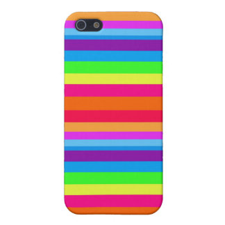 Bright Hawaiian Rainbow Stripes 4 Cover For iPhone SE/5/5s