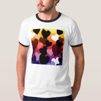 Bright Hearts Love Design T-Shirt