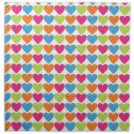 Bright Hearts Printed Napkin