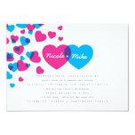 """Bright Hearts Wedding Invitation 5"""" X 7"""" Invitation Card"""