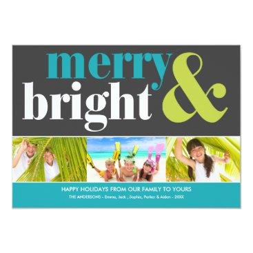Christmas Themed BRIGHT HOLIDAY   HOLIDAY PHOTO CARD