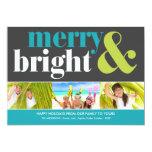 "BRIGHT HOLIDAY   HOLIDAY PHOTO CARD 5"" X 7"" INVITATION CARD"