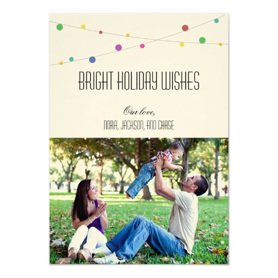 Bright Holiday Wishes Photo Card (Apple)