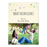 Bright Holiday Wishes Photo Card (Apple) Custom Announcements