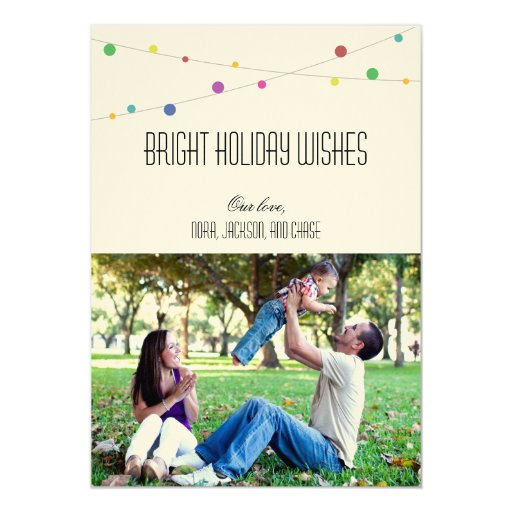 Bright Holiday Wishes Photo Card (Melon)