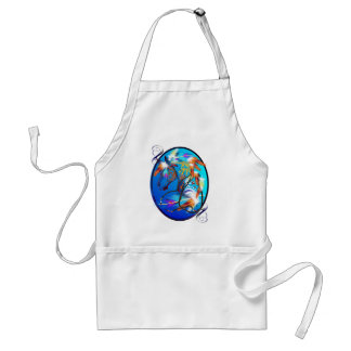 Bright Horse 2 Oval Aprons