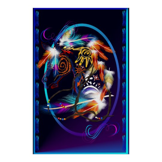 Bright Horse Oval Large Poster