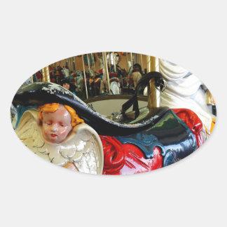 Bright Horse. Oval Sticker