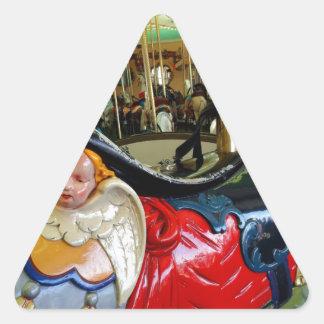 Bright Horse. Triangle Sticker