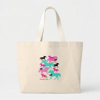 Bright Horses Jumbo Tote Bag