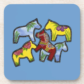 Bright Horses Drink Coaster