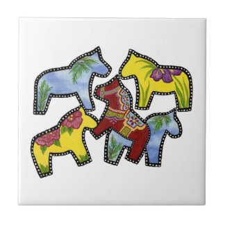 Bright Horses Tile