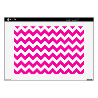 "Bright Hot Pink Chevrons 15"" Laptop Skins"