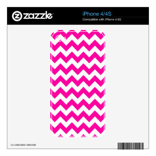 Bright Hot Pink Chevrons Decal For The iPhone 4S