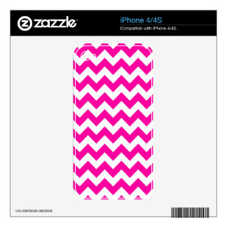 Bright Hot Pink Chevrons Skin For iPhone 4S