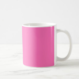 Bright Hot Pink Color Trend Template Blank Coffee Mug