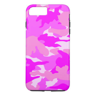 Bright Hot Pink Girly Camouflage Pattern Durable iPhone 7 Plus Case
