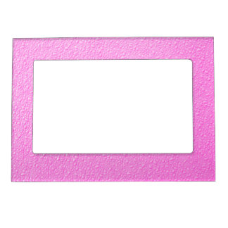 Bright Hot Pink Neon Trendy Colors Magnetic Frame