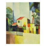 Bright house by August Macke Posters